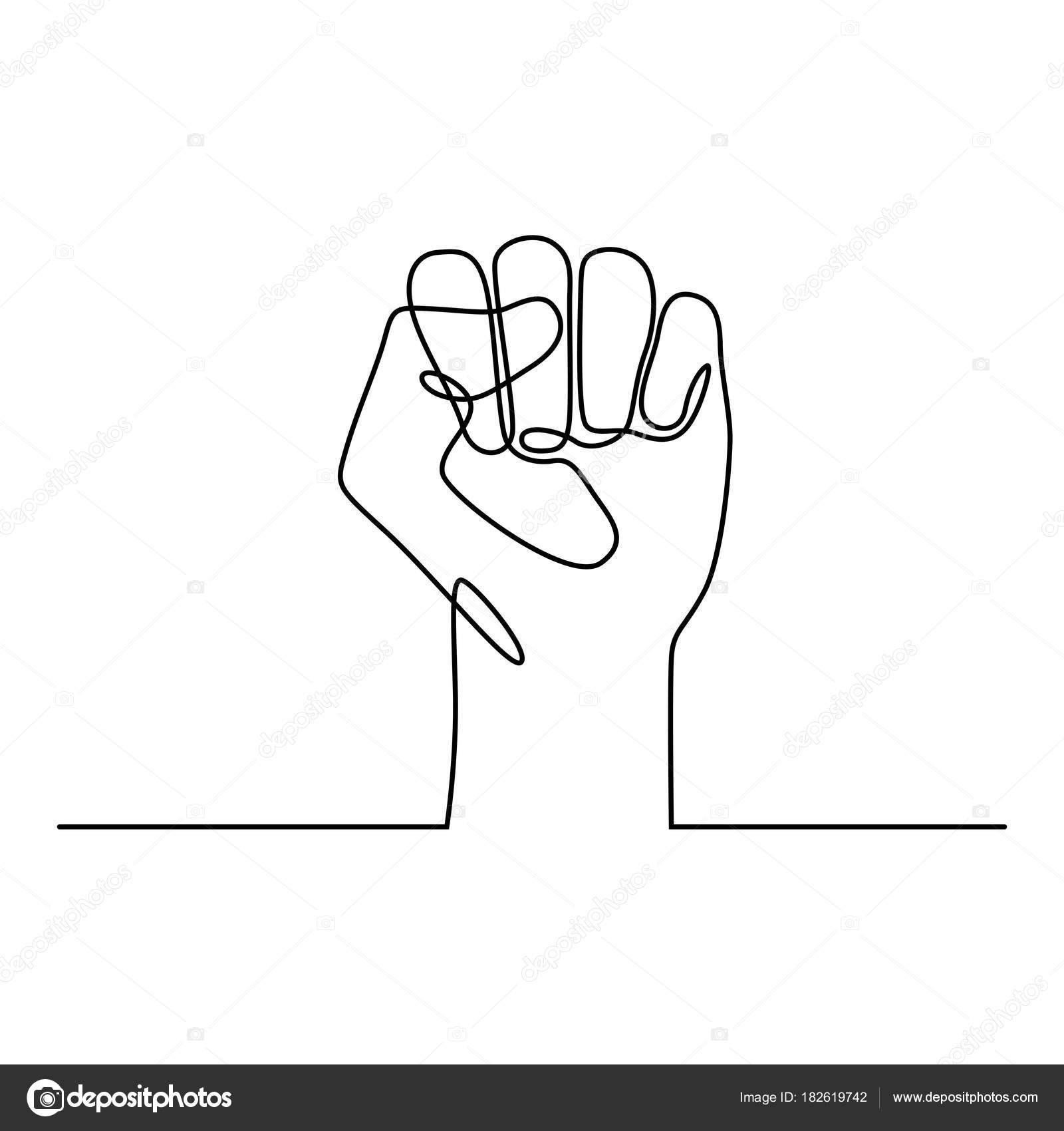 fist outline drawing