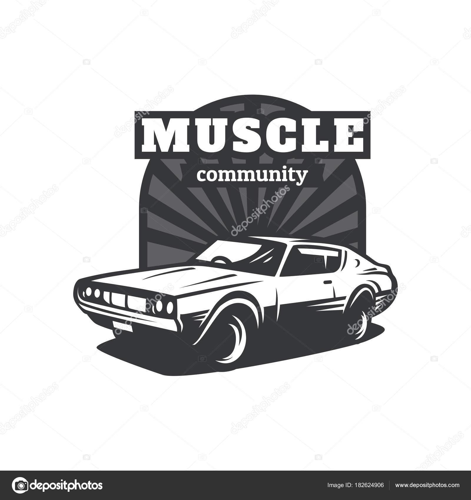 Muscle Car Community Logo — Stock Vector © yellowline #182624906