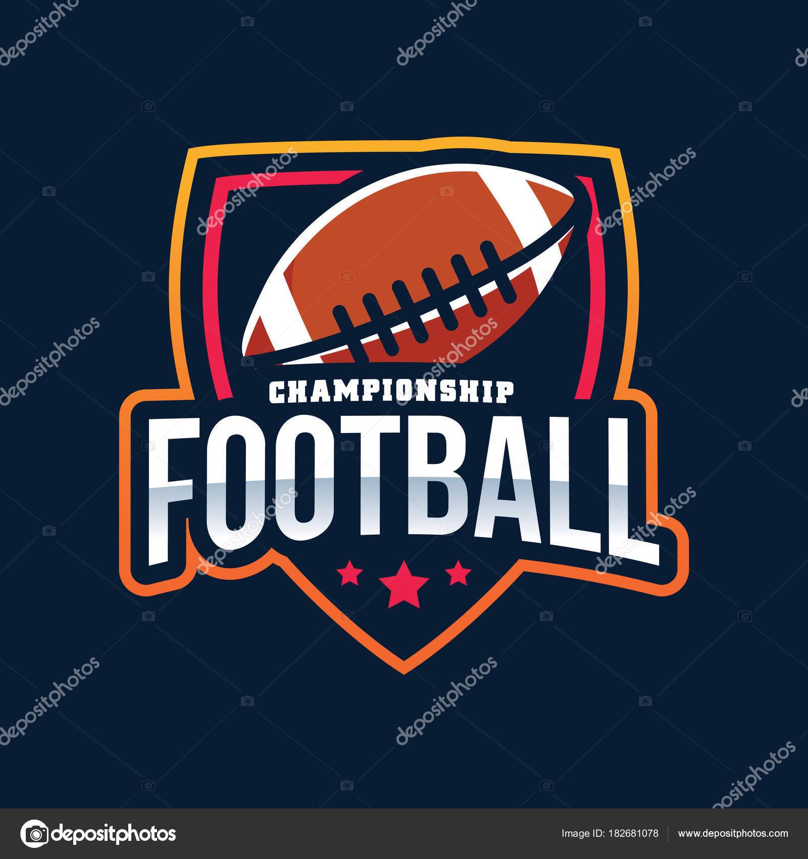 American Football Championship Logo — Stock Vector © yellowline ... e19bc6b35