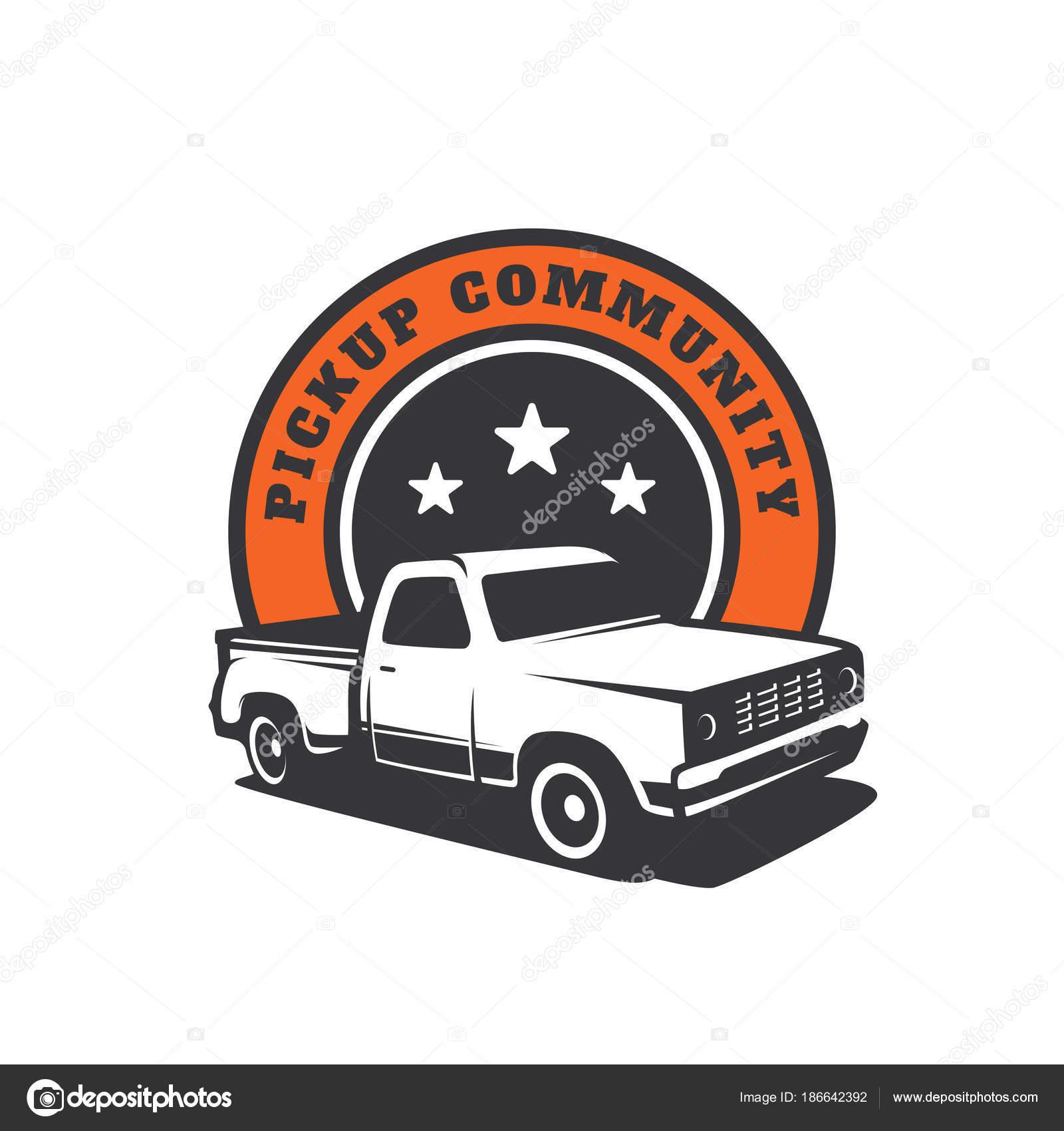 Pick Lkw Auto Vektor Logo Vorlage — Stockvektor © yellowline #186642392