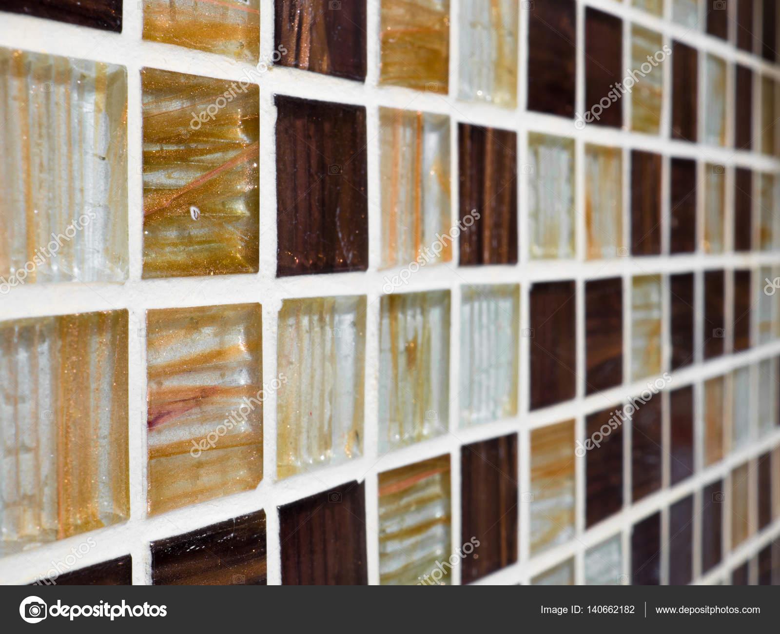 Wand- und Bodenfliesen Mosaik, Nahaufnahme Makro-Foto in der Küche ...