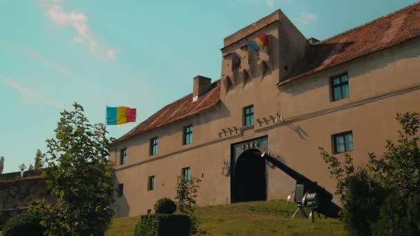 Static shot of the Old Citadel in Brasov, Romania
