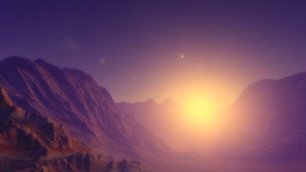 Místo animace exoplanety podobné zemi s atmosférou, růžová