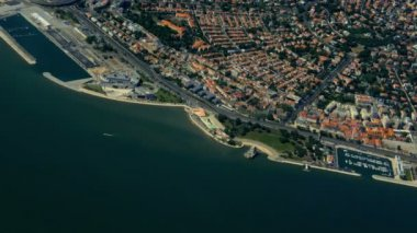 Aerial view of downtown of Lisbon, Portugal