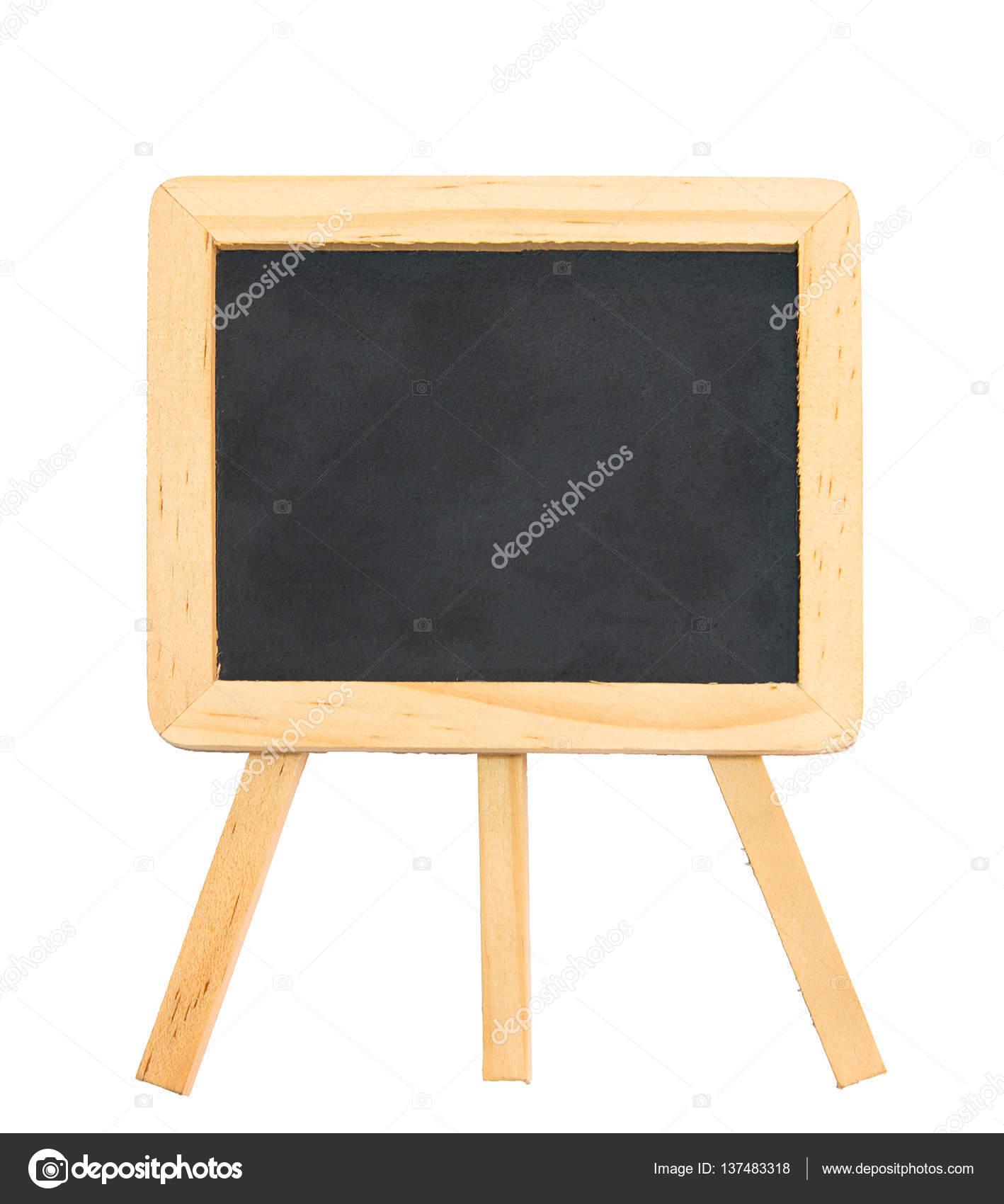 Negro pizarra con marco de madera limpio y trípode soporte isola ...