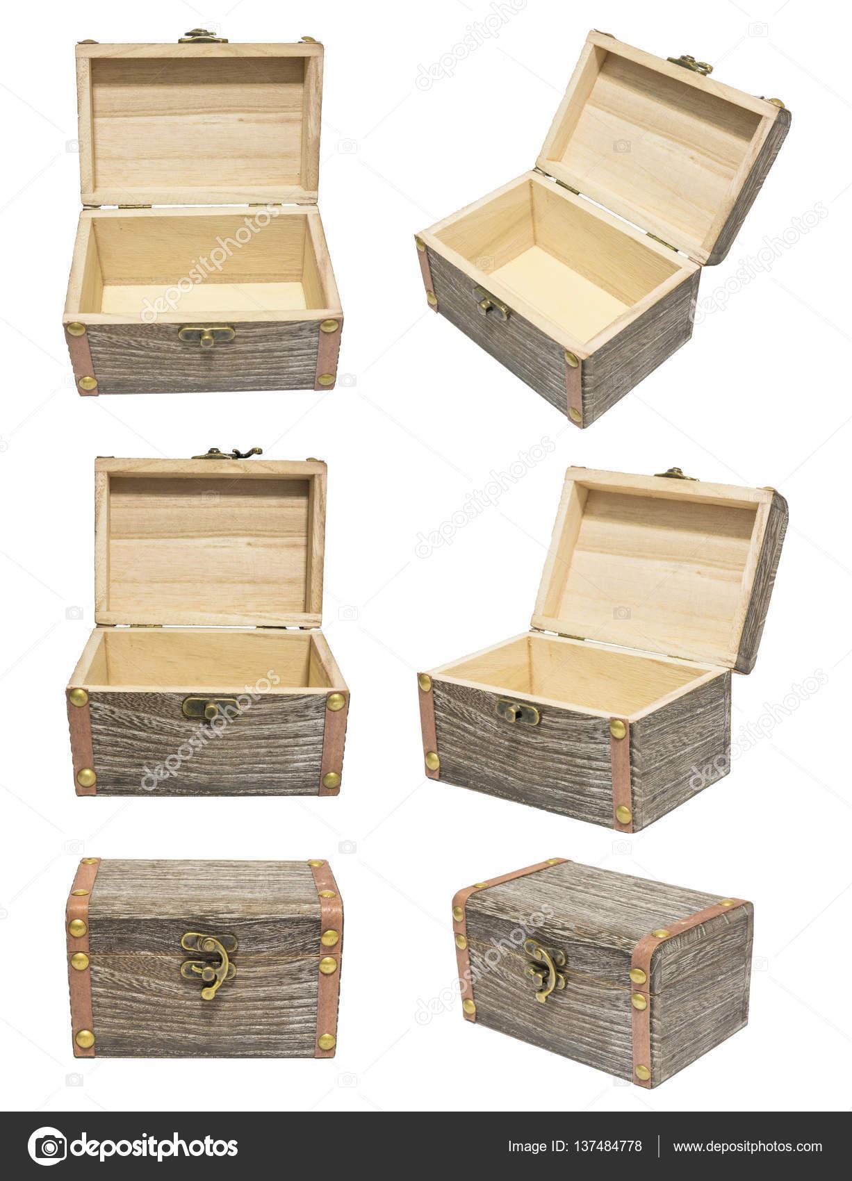 alte vintage geschlossen/offen variation winkel box holz kiste truhe