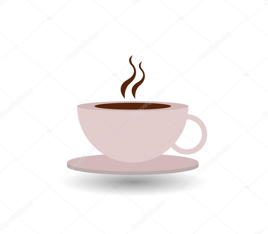 Coffee Mug Illustrated On A White Background Stock Photo Image By C Marcotrapani 130370926