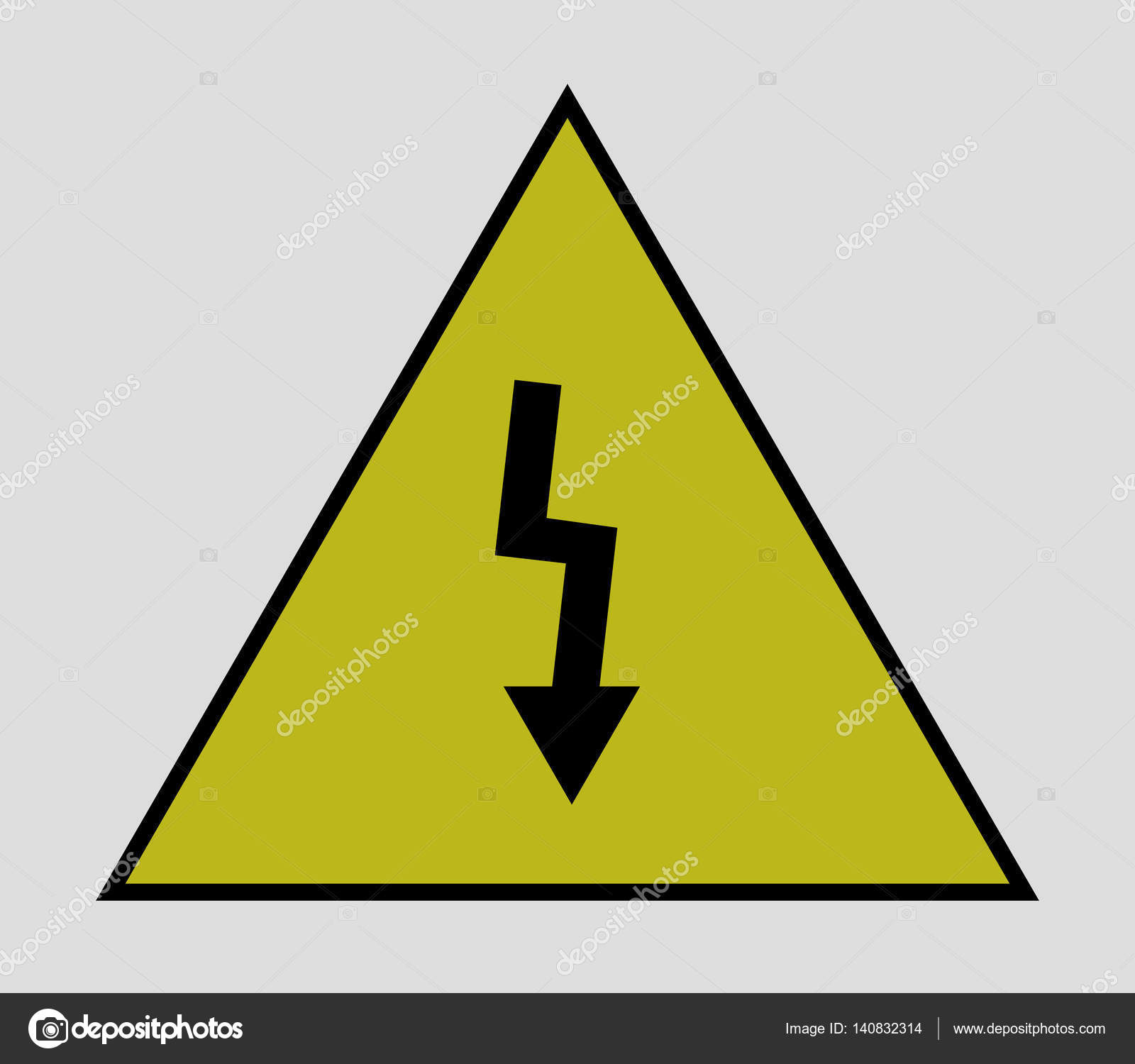 Icon Electrical Warning Sign Stock Vector Marcotrapani 140832314