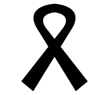 mourning ribbon illustrated on a white background