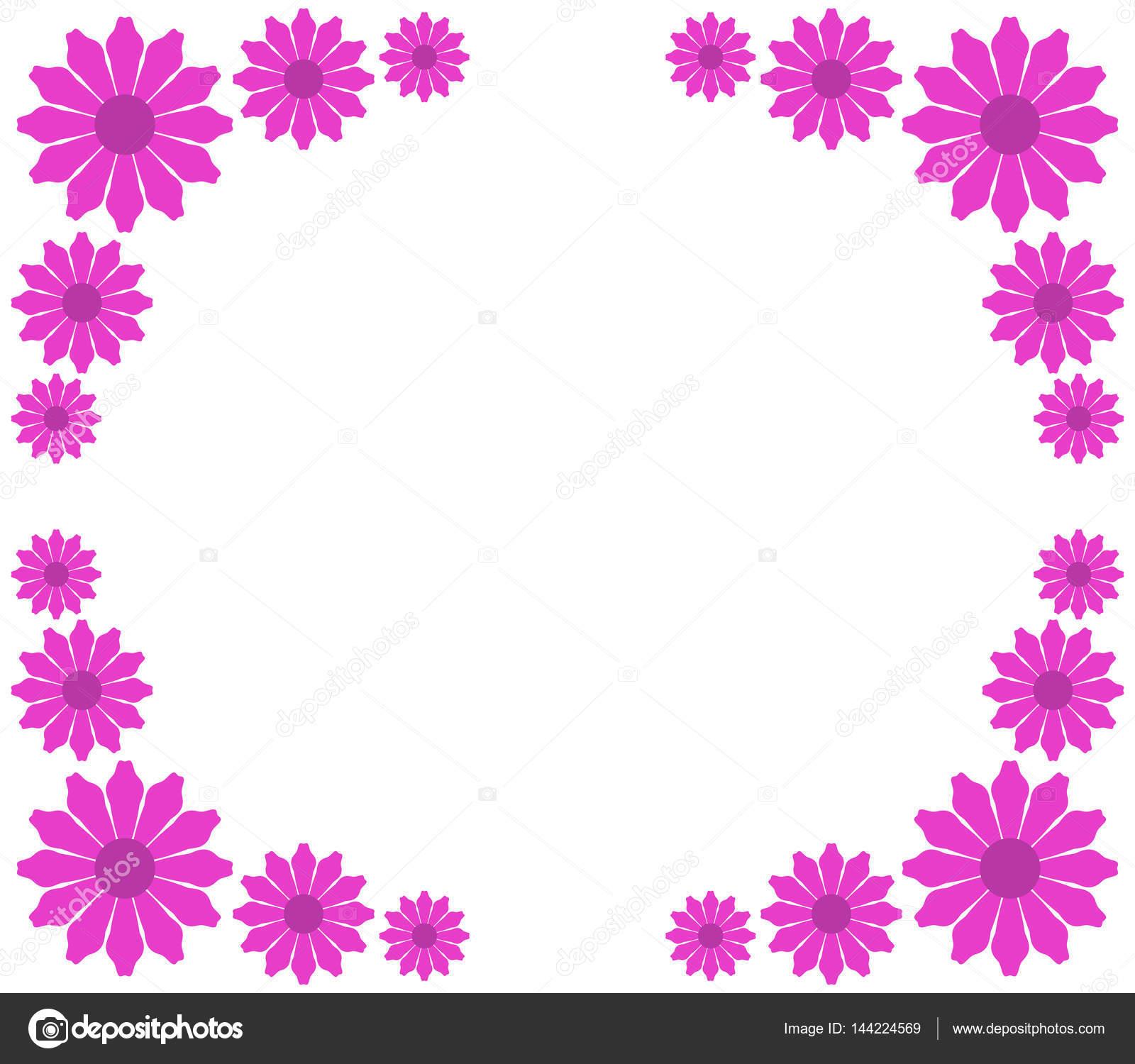 白い背景のイラスト花のフレーム — ストックベクター © marcotrapani