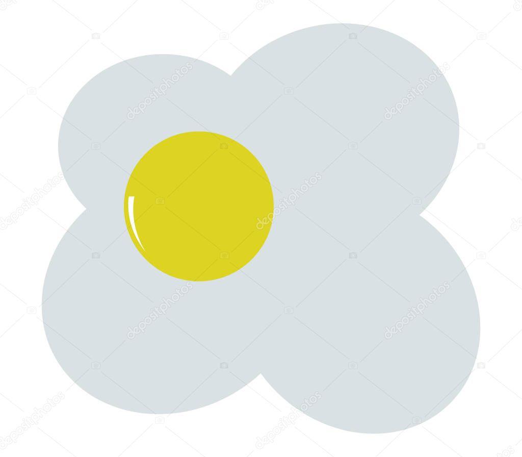 icon illustrated fried egg on white background