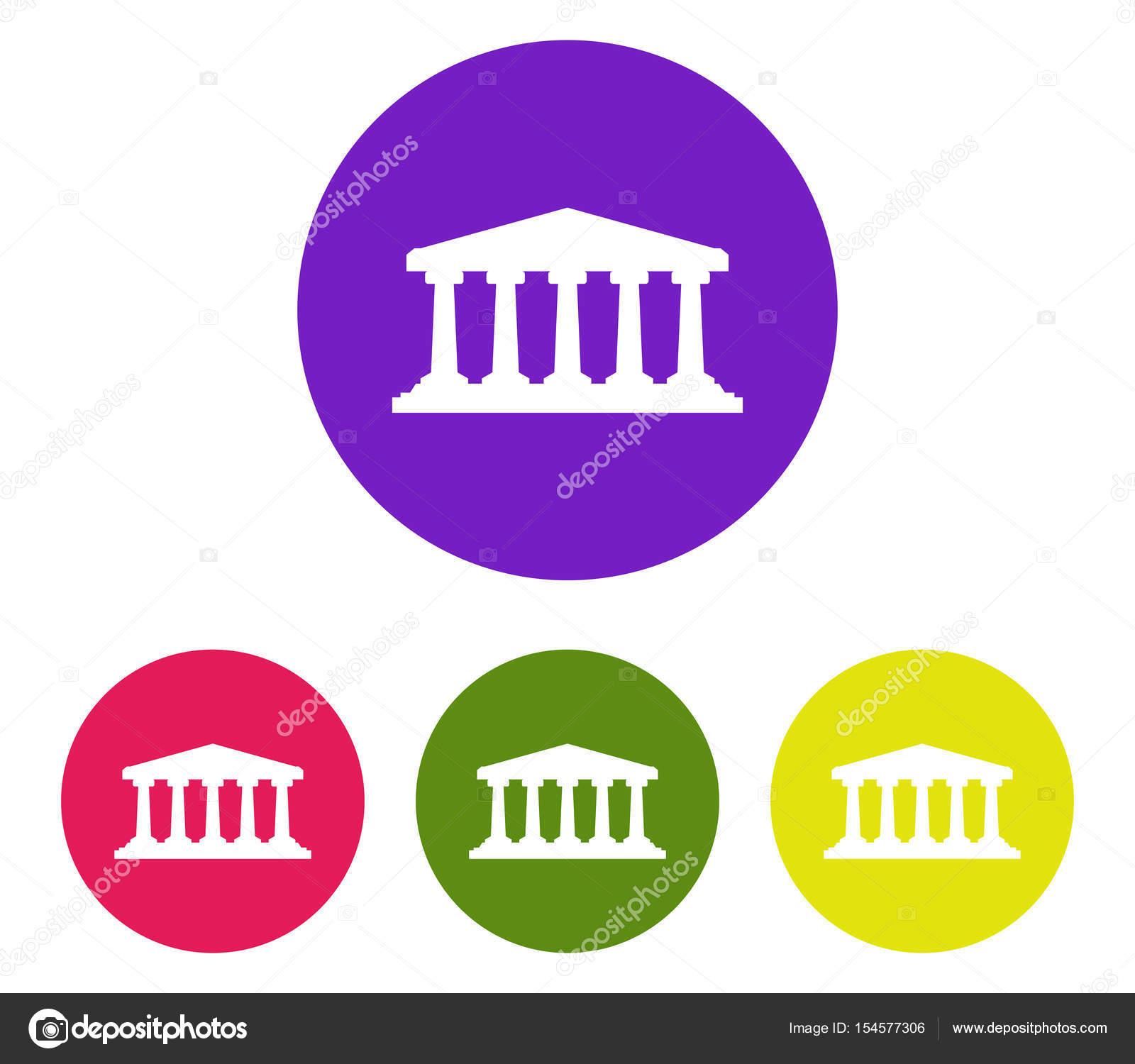 銀行アイコン イラスト背景白に設定 — ストックベクター © marcotrapani