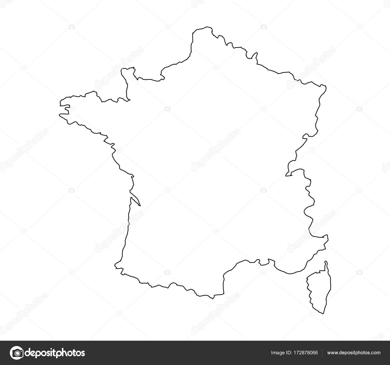 Map Of France Drawing.Map France White Background Stock Vector C Marcotrapani 172878066