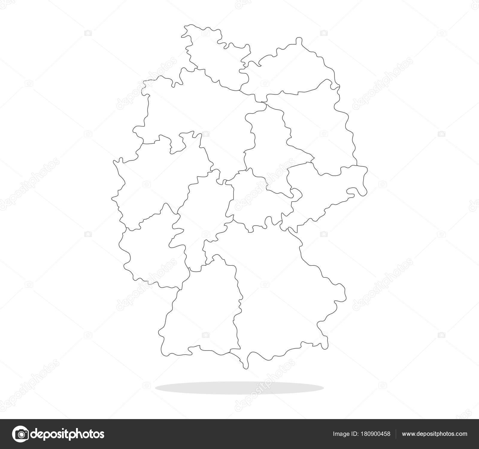 Carte Allemagne Noir Et Blanc.Carte Allemagne Sur Fond Blanc Image Vectorielle
