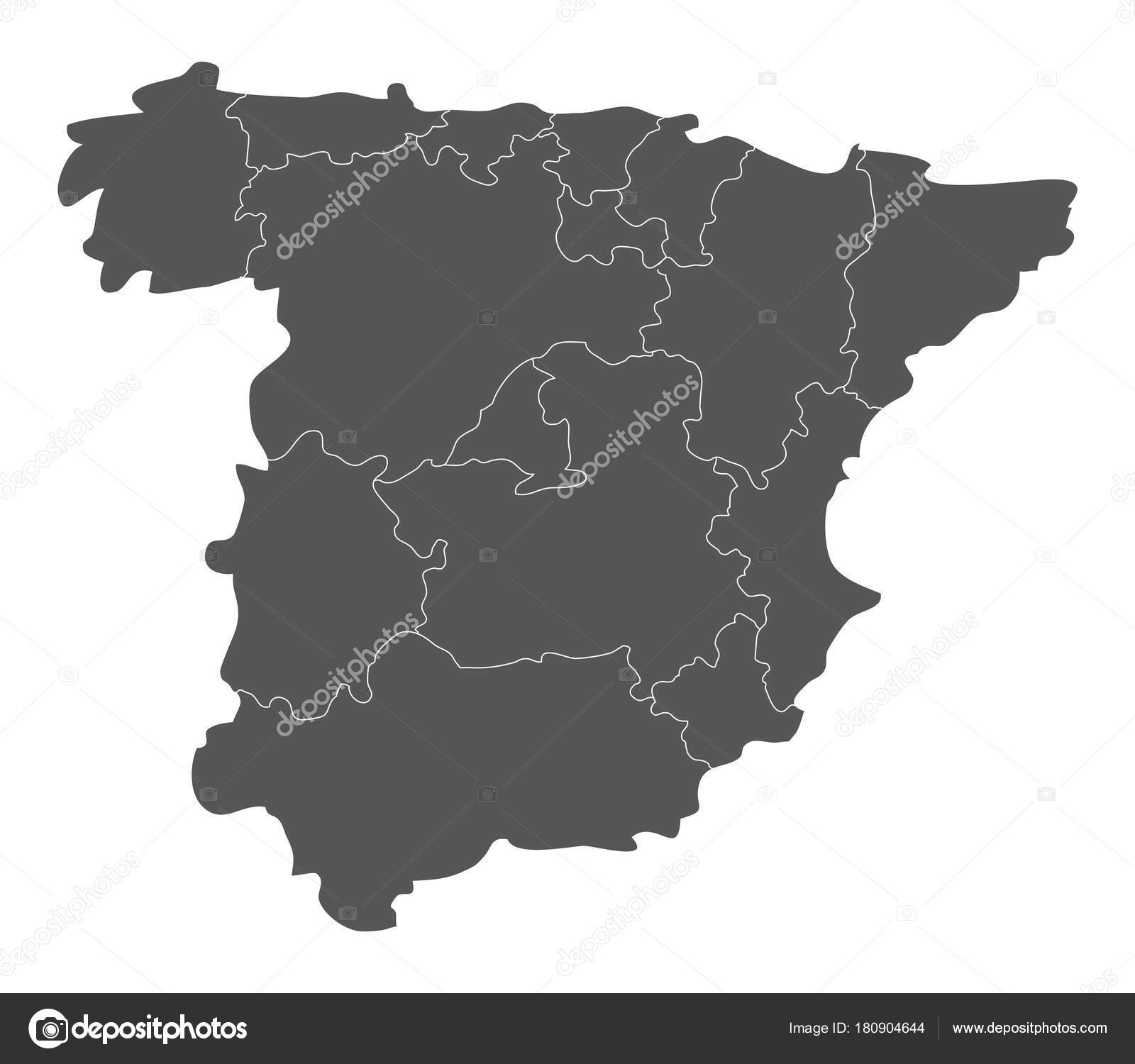 Spain Map Regions White Background — Stock Vector © marcotrapani ...