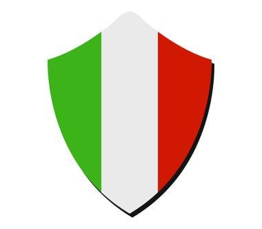 italy flag on white background