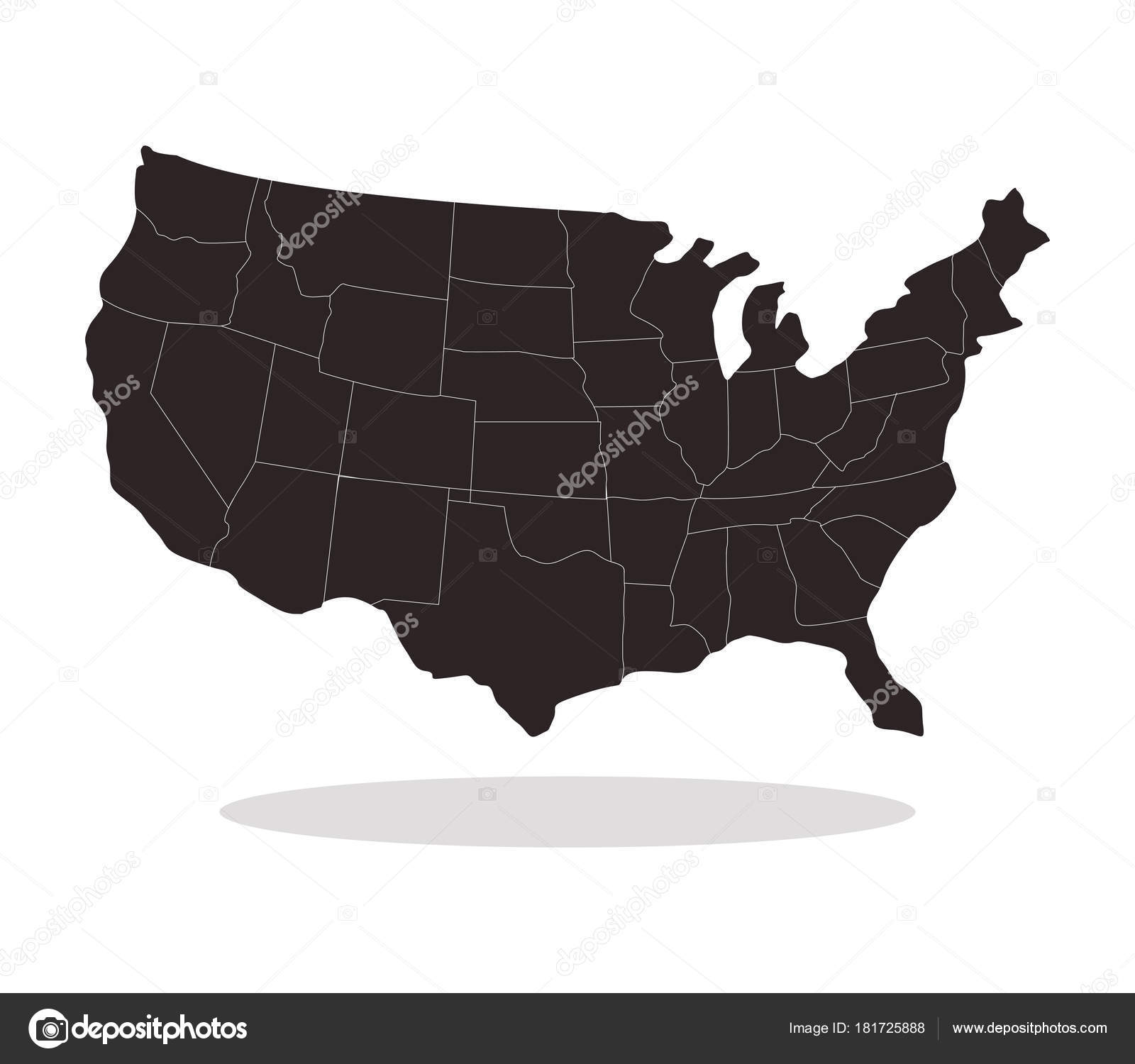 United States Map Regions White Background — Stock Vector ...