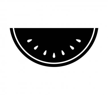 watermelon icon on white background