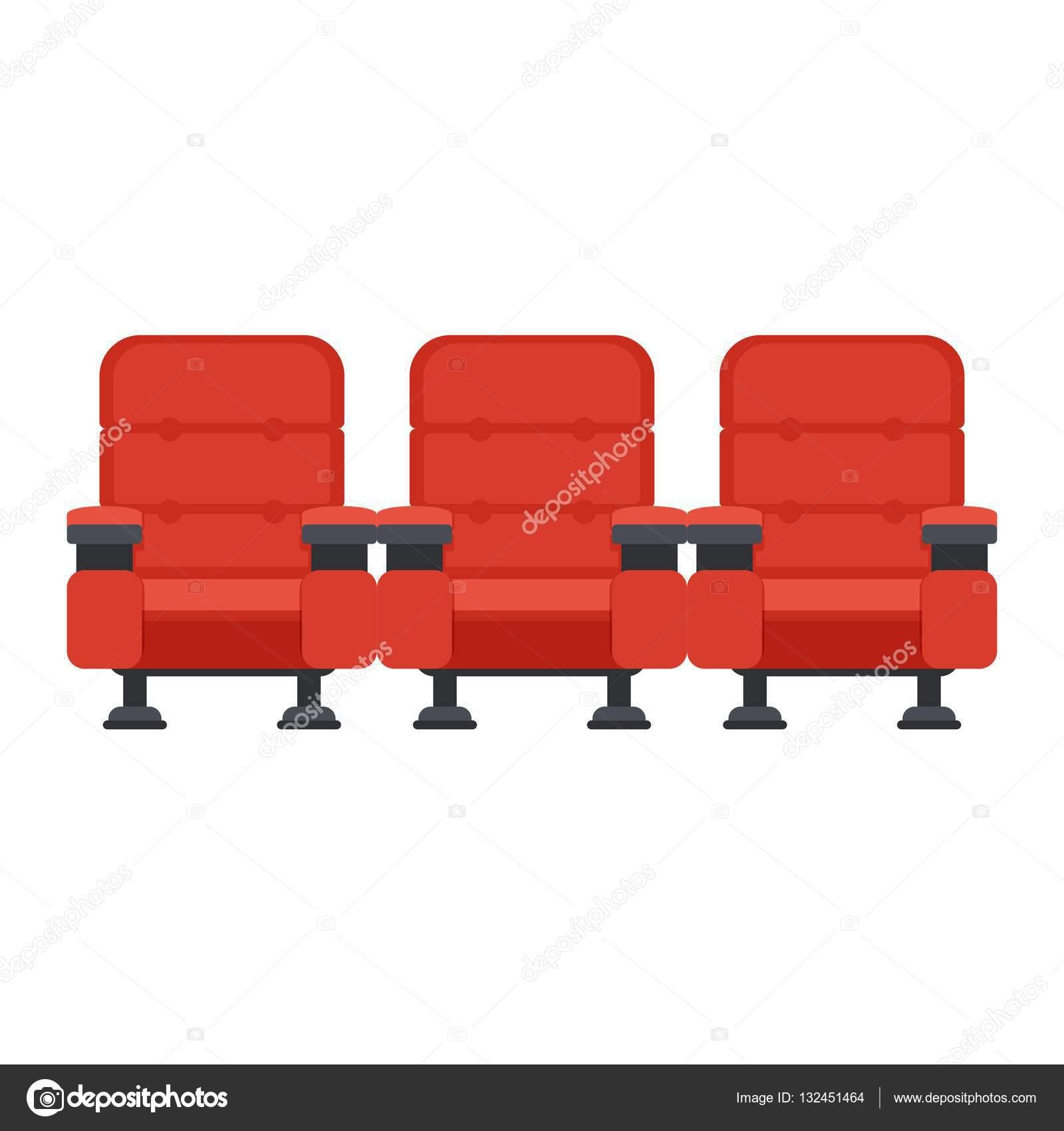 chaises de cin ma rouge image vectorielle quarta 132451464. Black Bedroom Furniture Sets. Home Design Ideas