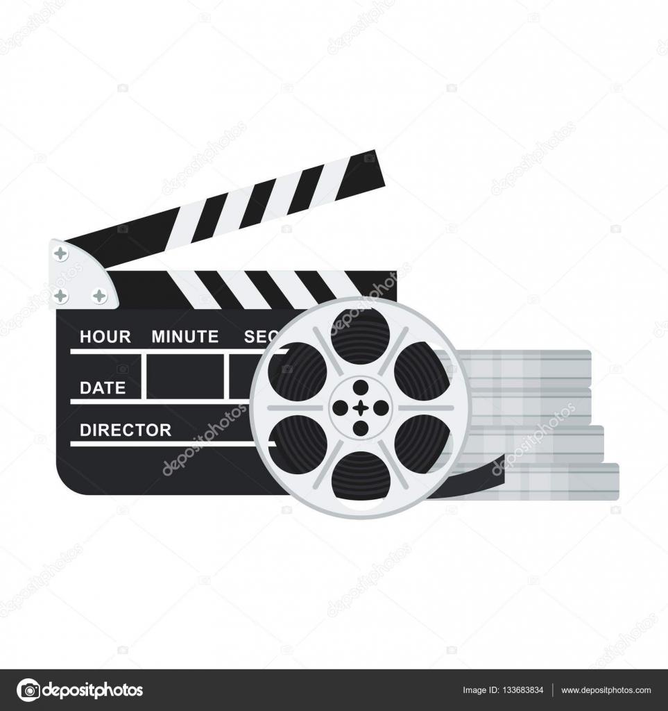 Clapperboard And Babina Film Stock Vector C Quarta 133683834