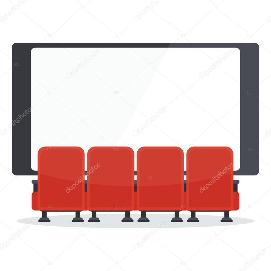 Frente De Sillas De Cine De Tv Vector De Stock 169 Quarta