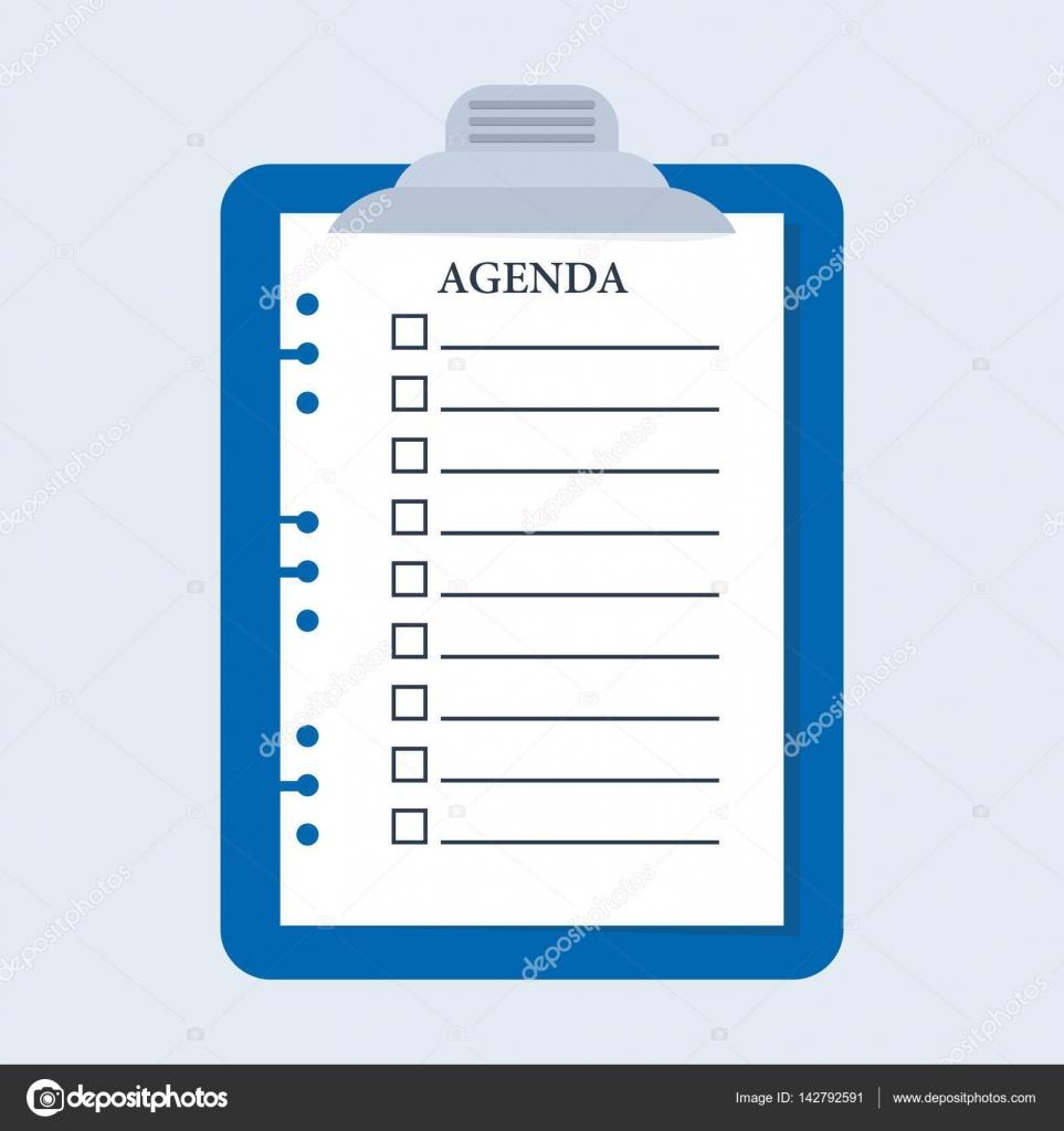 placa de lista de verificación de agenda — Archivo Imágenes ...