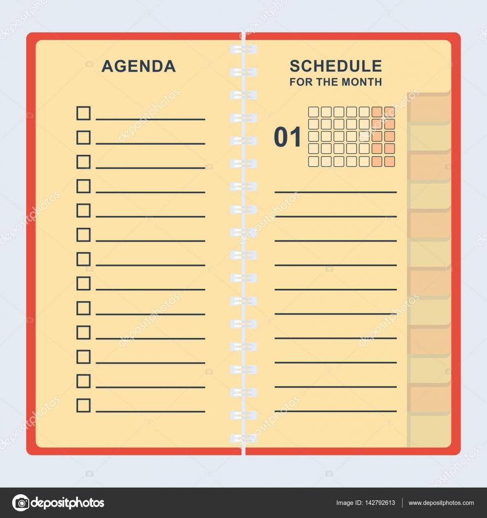 Agenda mes calendario — Archivo Imágenes Vectoriales © quarta #142792613