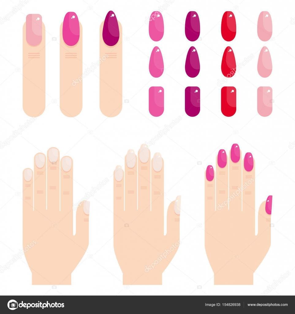 cuidado manos y uñas — Vector de stock © quarta #154826938