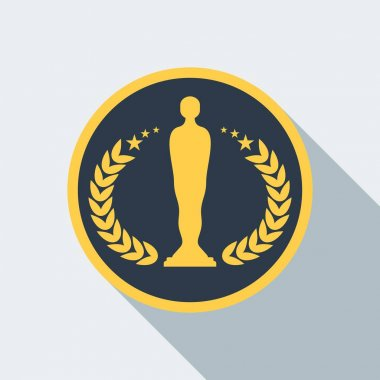 cinema statuette award icon