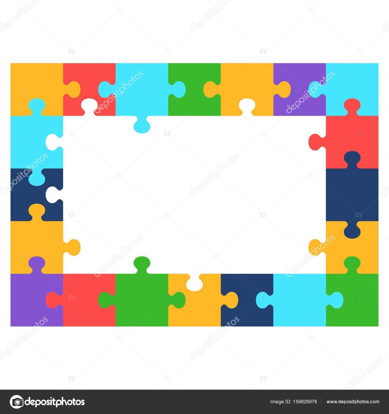 Farbe Puzzle Rahmen — Stockvektor © quarta #159826978