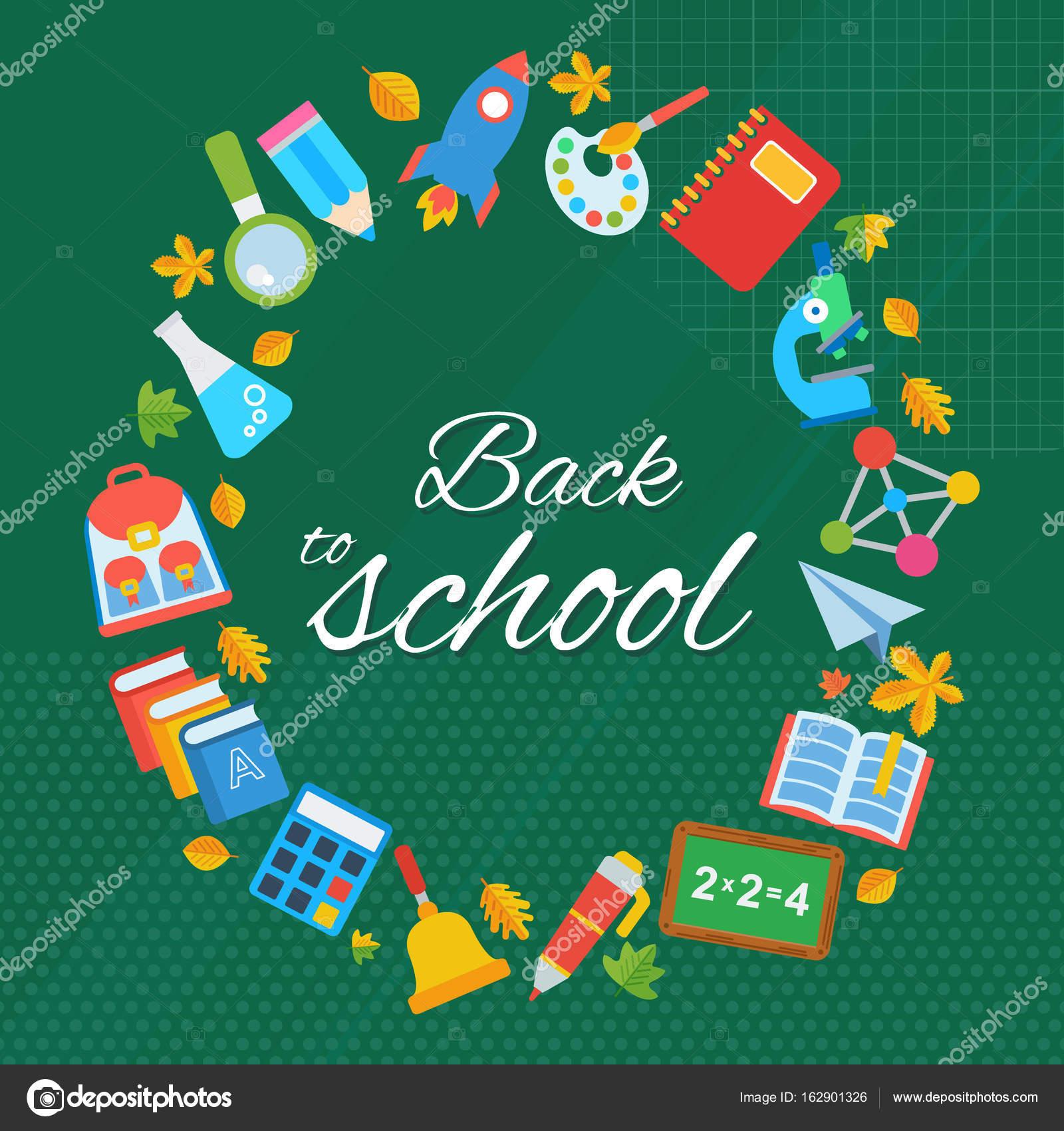 Back To School Frame Stock Vector Quarta 162901326