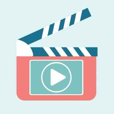 Video play clapperboard