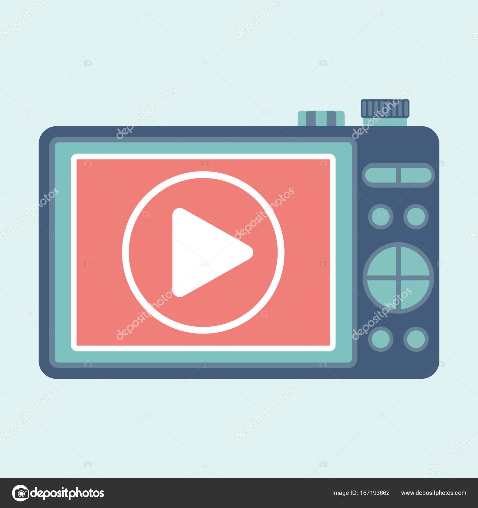 cámara de video juego — Vector de stock © quarta #167193662