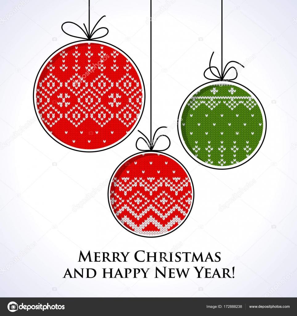 tarjeta de punto de bola de Navidad — Vector de stock © quarta ...