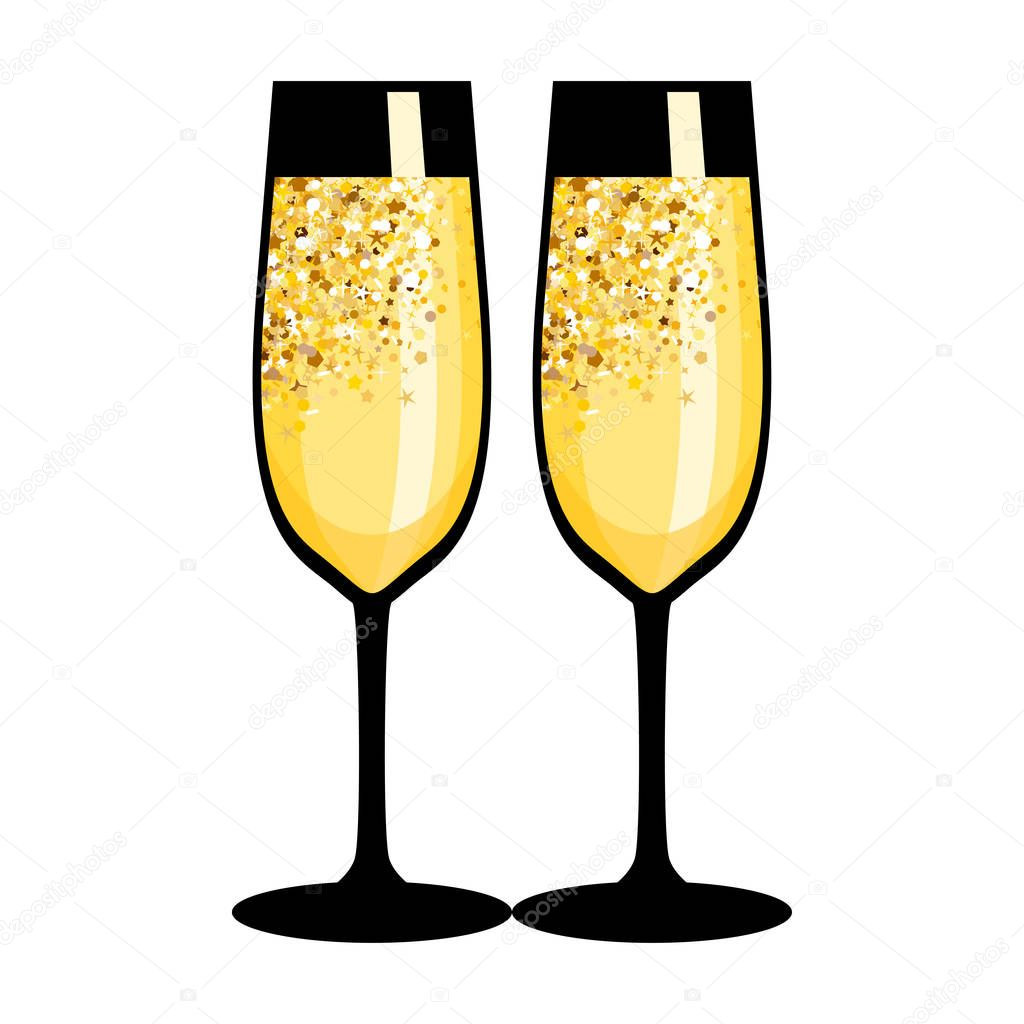champagne flute cartoon vector images 43 - HD 1024×1024