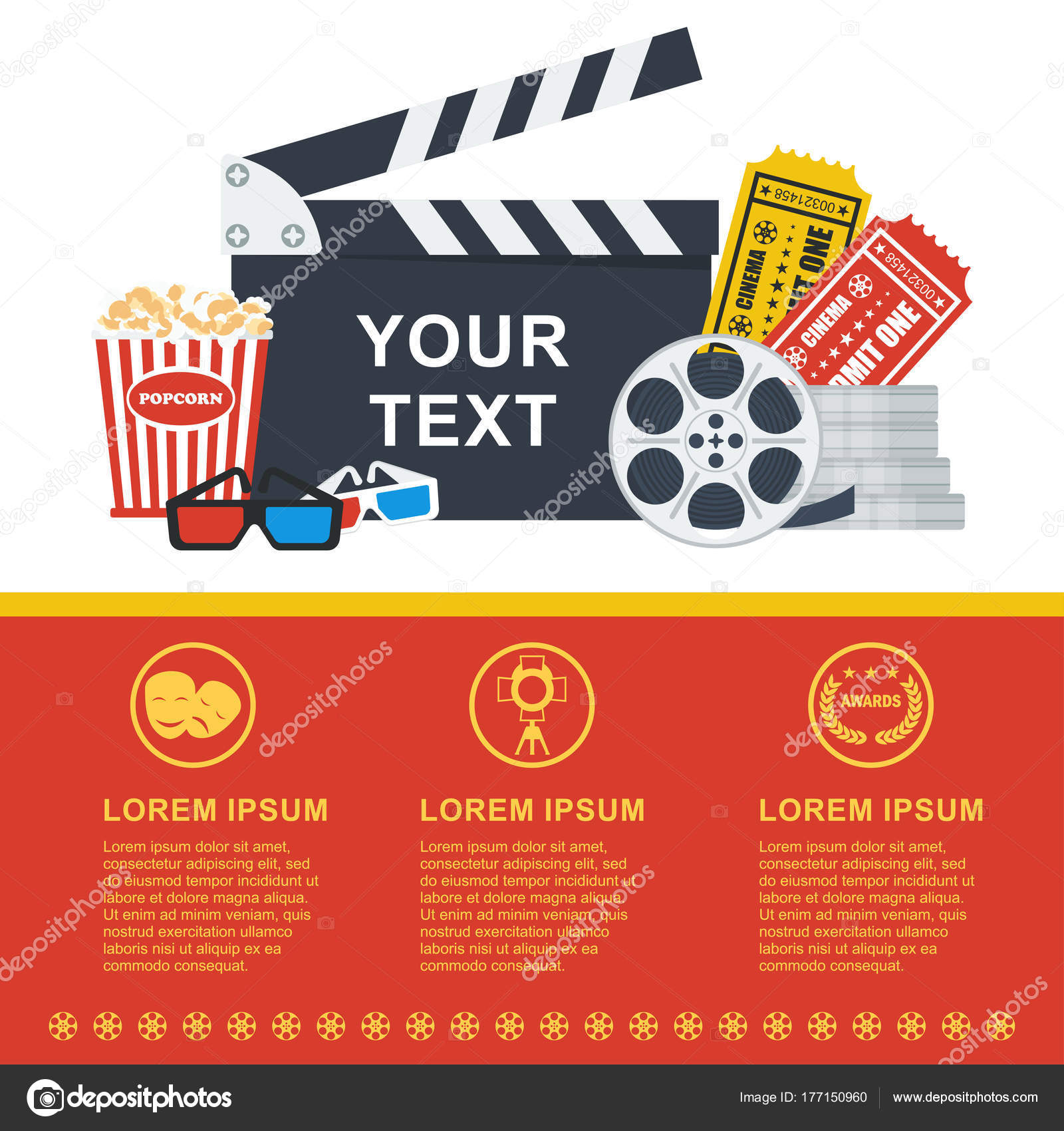 movie poster template stock vector