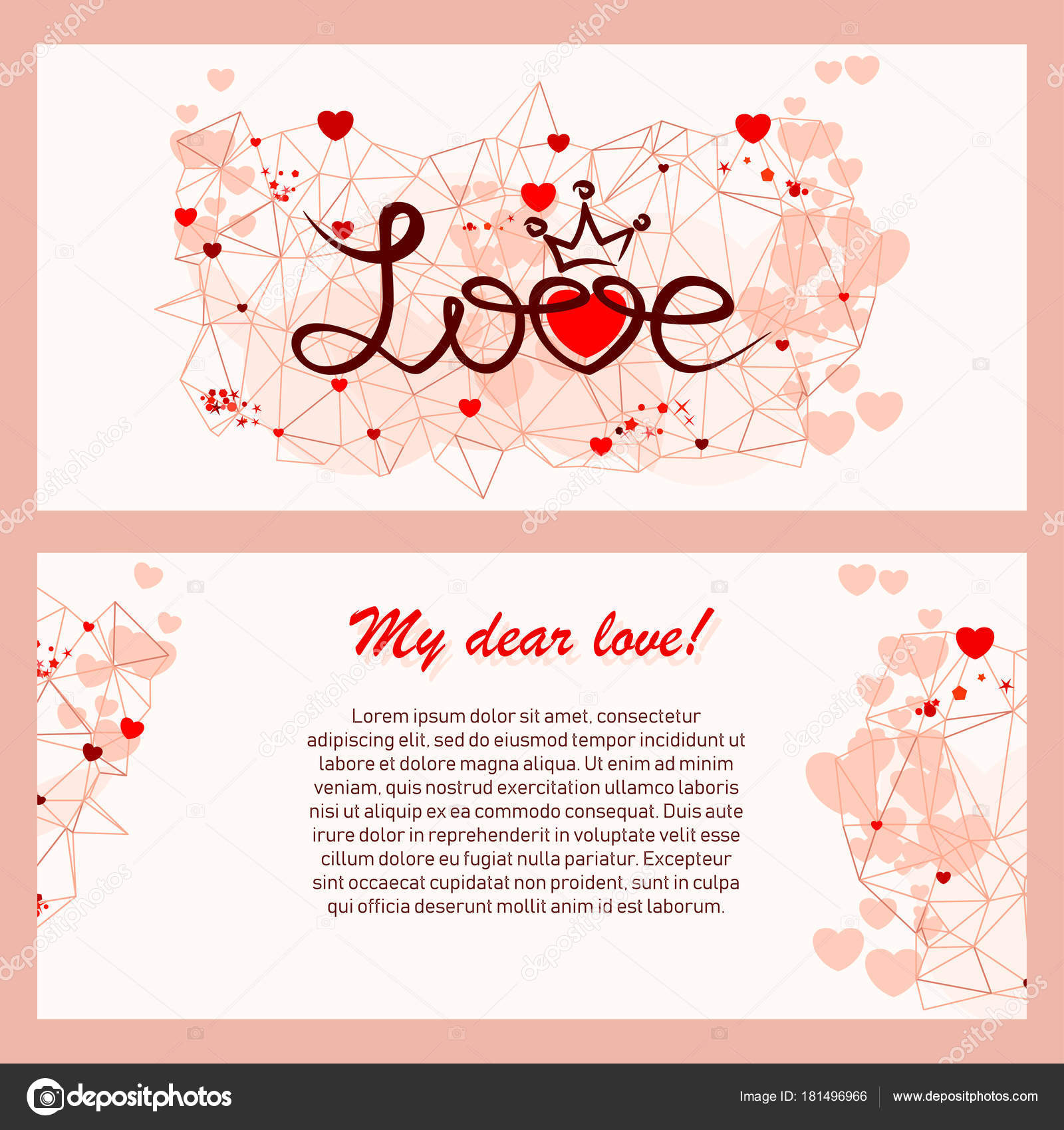 Abstract Greeting Card For Valentine Day Stock Vector Quarta