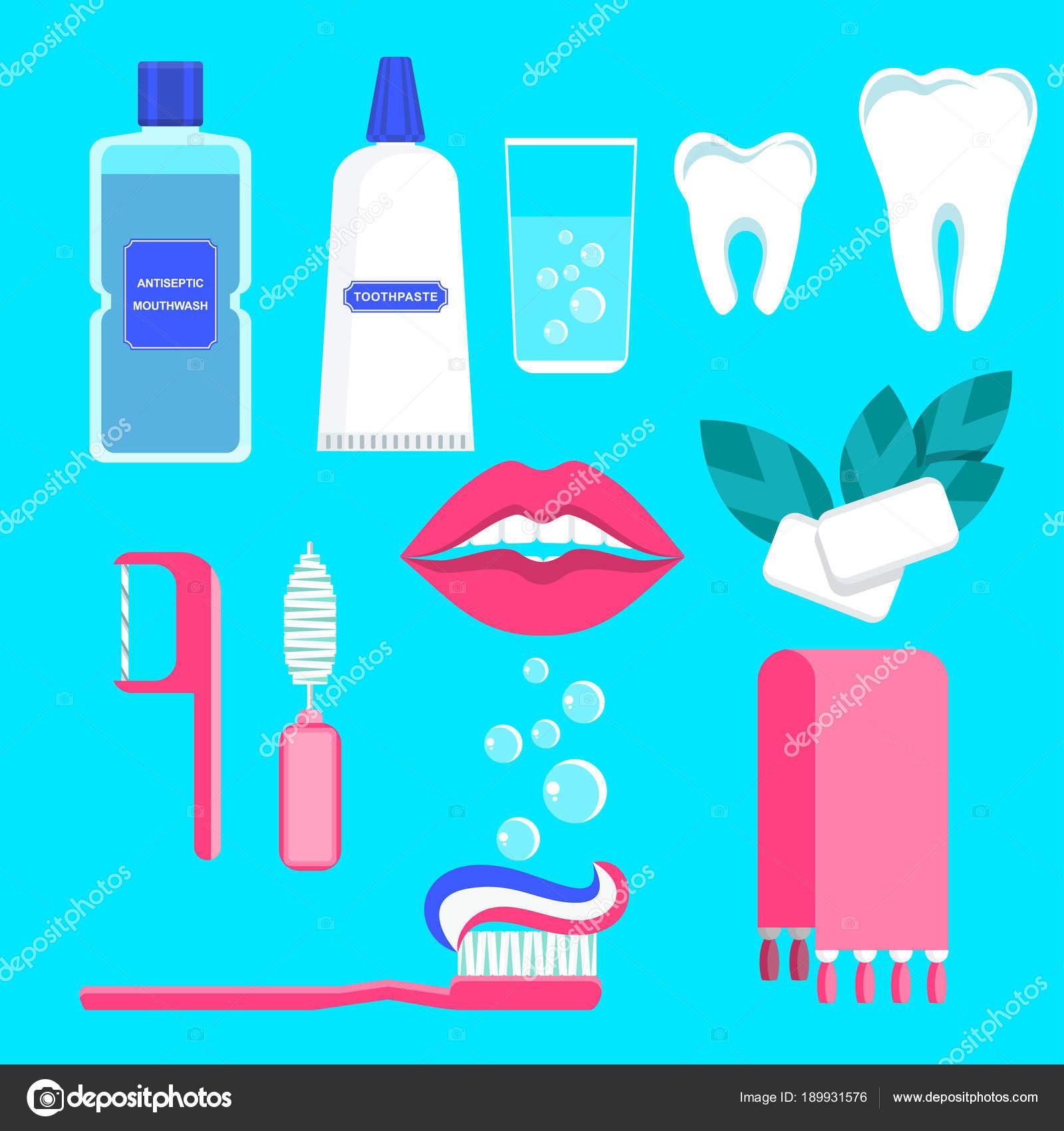 a20aa267e Conjunto de ícones de atendimento odontológico — Vetores de Stock ...