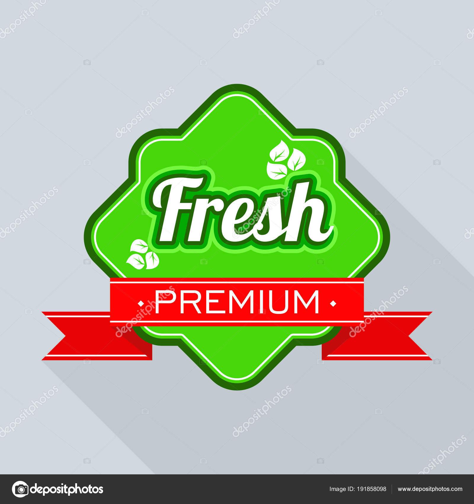 freshness logo for farm market and store stock vector quarta
