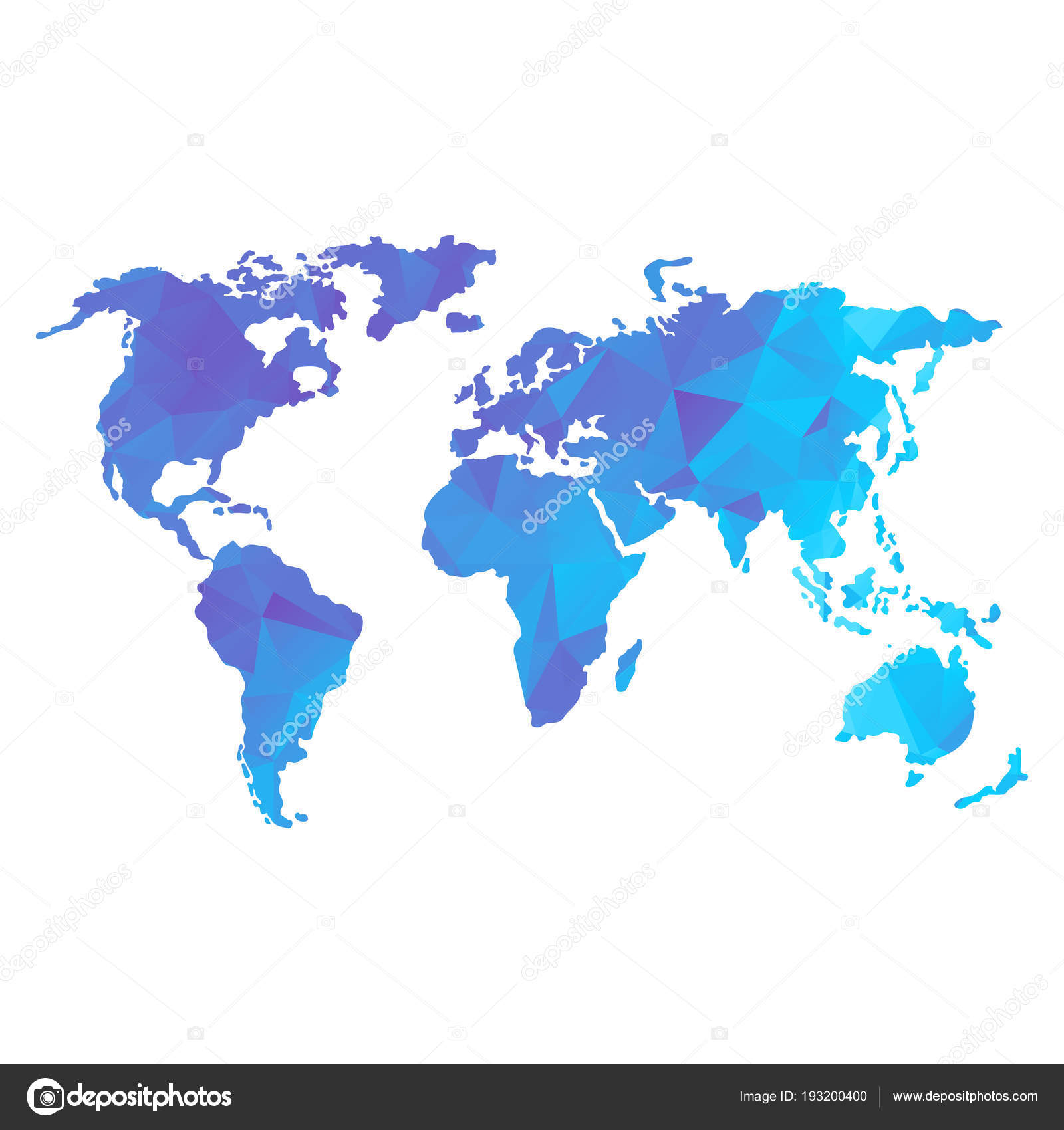 Low poly global world map stock vector quarta 193200400 low poly global world map stock vector gumiabroncs Image collections