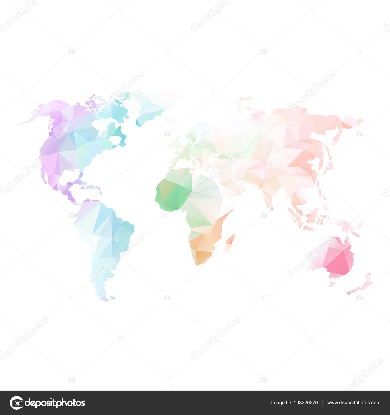 Carte Du Monde Global Low Poly Image Vectorielle Quarta