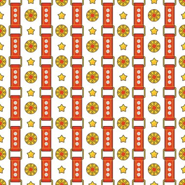 Seamless pattern with straps