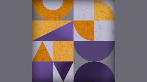 Animovaný geometrický vzor s texturou. Trendy Square Neo Geo