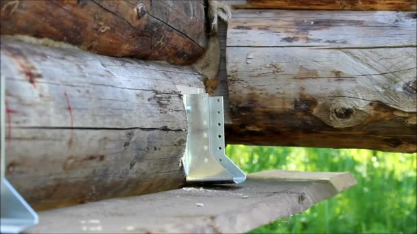 Montage Von Einem Holzrahmen Und Ein Haus Zu Bauen Russland Einige