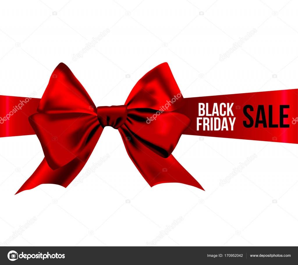 9bb7c6964 Laço vermelho com preto venda de sexta-feira na faixa de opções — Vetores de