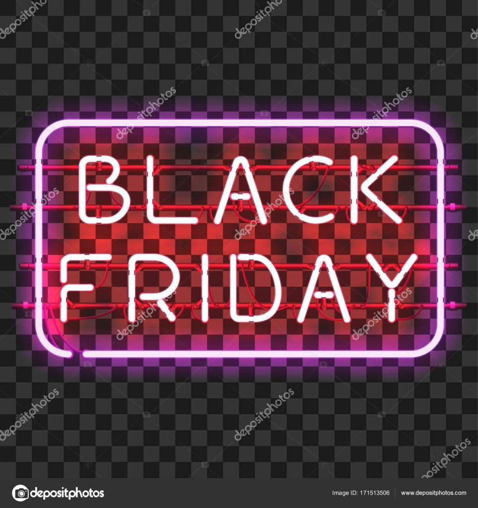 Schwarzer Freitag-Neon unterzeichnen im Rahmen — Stockvektor © Ryzhi ...
