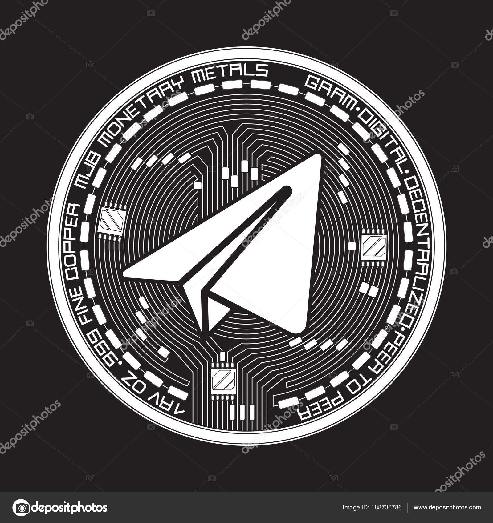 Crypto Currency Gram Black And White Symbol Stock Vector Ryzhi