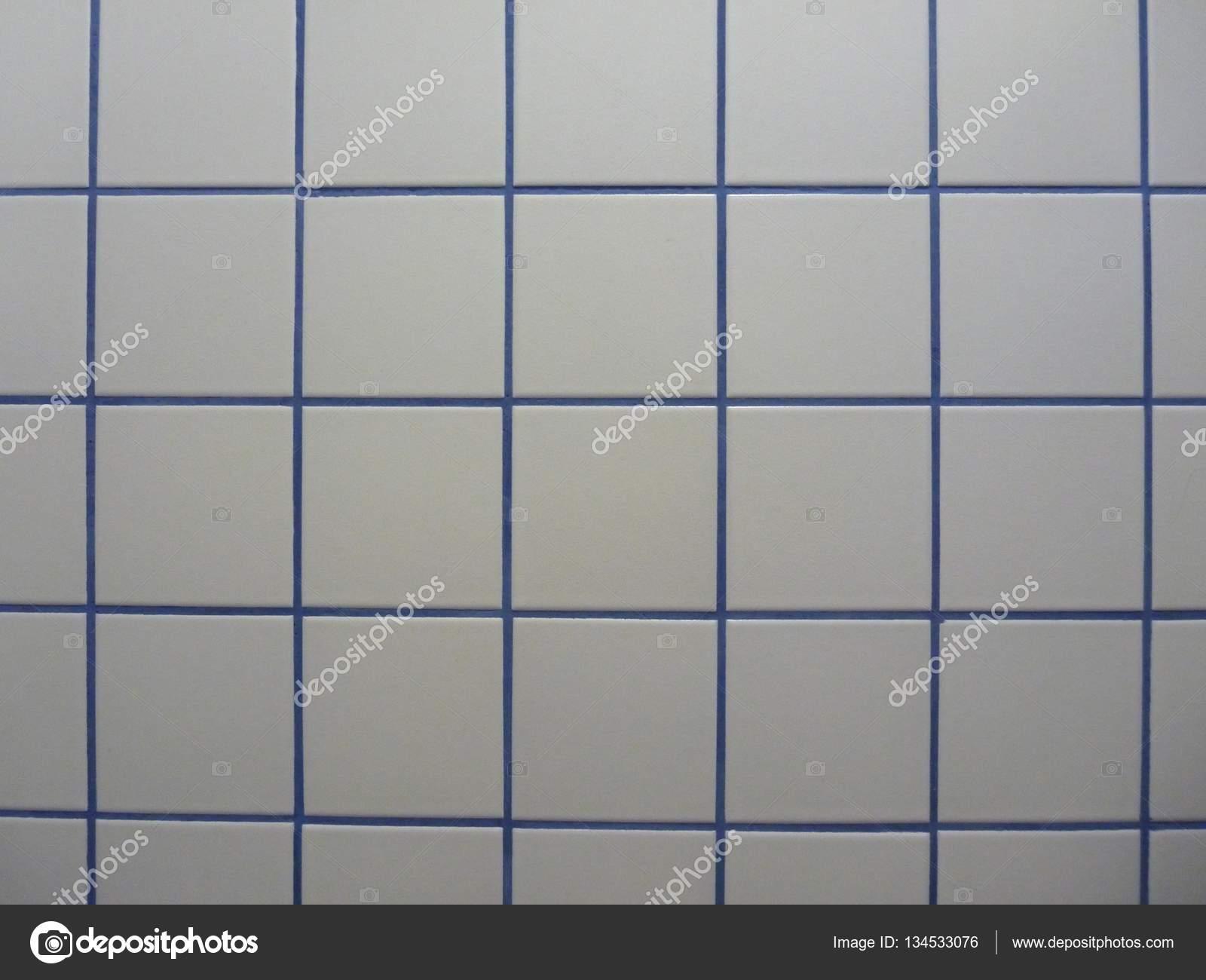 White And Blue Tiles Texture Stock Photo