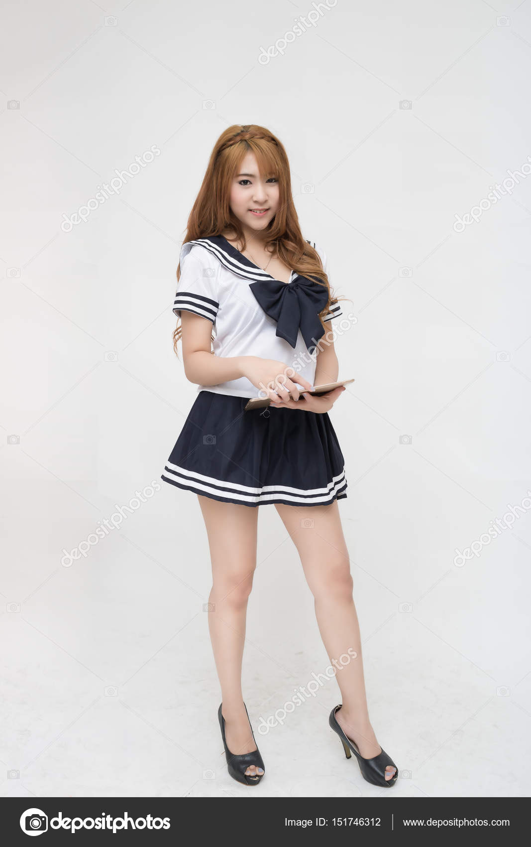 Beautiful Young Asian School Girl Stock Image