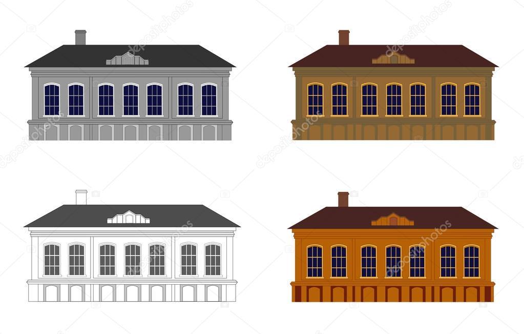 Reihe von Häusern in verschiedenen Farben — Stockvektor © Yulu ...